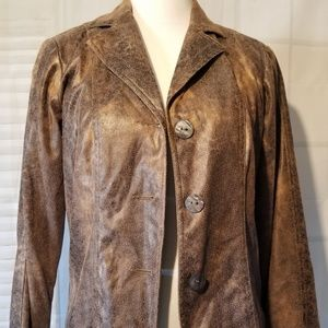 Erin London Leather Look Jacket S (S)